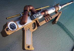 Steampunk Sniper Rifle by firebladecomics