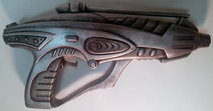 Custom Retro-style Ray Gun blaster pistol prop by firebladecomics