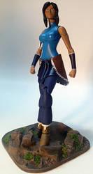 Legend of Korra Custom Action Figure with base by firebladecomics