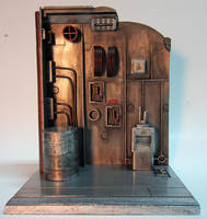 Custom Industrial Action Figure Display Base by firebladecomics