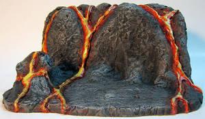 Custom Lava Action Figure Display Base by firebladecomics