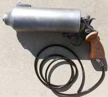 Custom Sandman Gas Gun pistol prop by firebladecomics