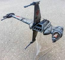 Rebel Alliance B-Wing Starfighter scale model by firebladecomics