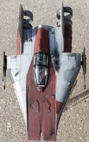 Rebel Alliance A-Wing Starfighter scale model by firebladecomics
