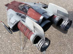 Rebel Alliance A-Wing Starfighter scale model by firebladecomics