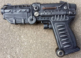 Dieselpunk Pistol prop by firebladecomics