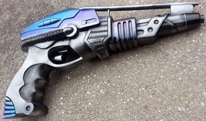 Custom Alien/Halo blaster pistol ver3 by firebladecomics