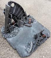 Custom Rubble Action Figure display base diorama by firebladecomics