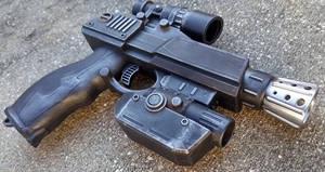 Custom Star Wars style Blaster Pistol by firebladecomics