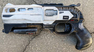 Custom Nerf Double Strike Sci-Fi Blaster Pistol by firebladecomics