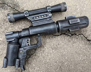 Custom Mini Blaster Pistol Cosplay Prop by firebladecomics