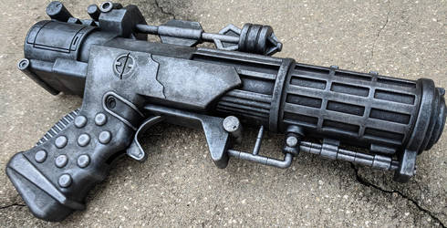 Custom Star Wars style Heavy Blaster Pistol by firebladecomics