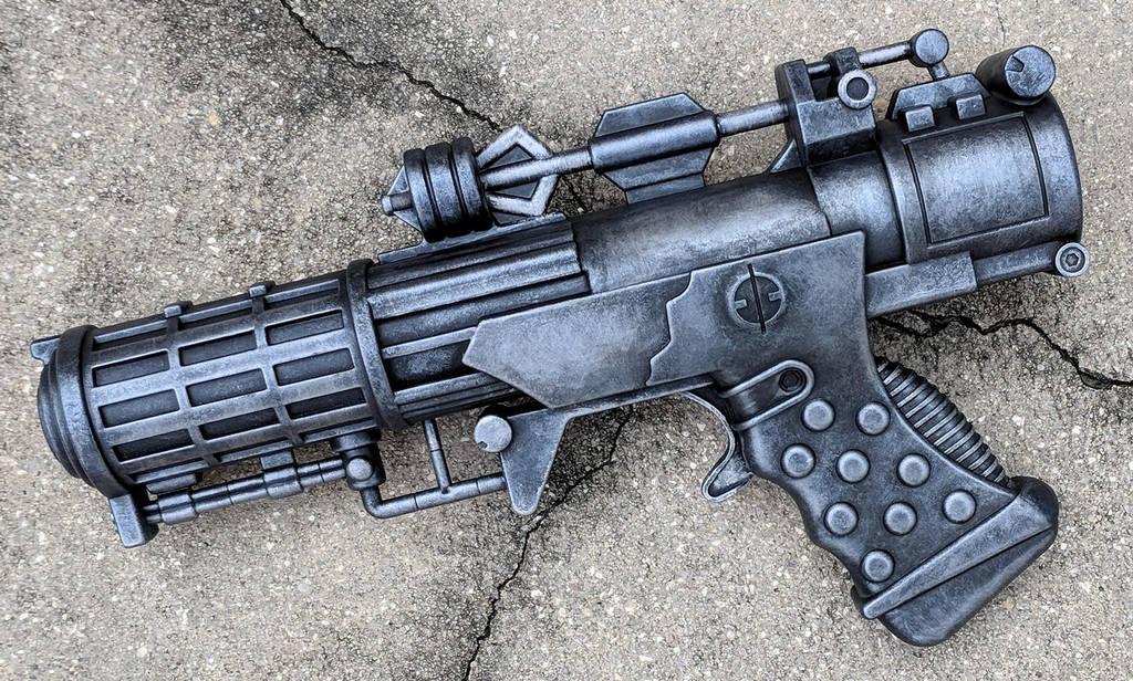 Custom Star Wars style Heavy Blaster Pistol by firebladecomics