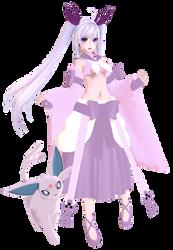 MMD Gijinka Espeon Full Model by Mystic-Stardust