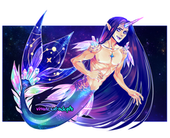 [CLOSED] Adopt auction - Merman unicorn by visualkid-adopts