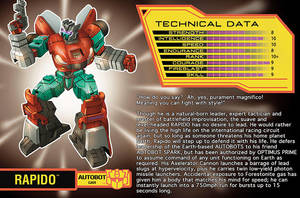 Rapido Character Profile by Teyowisonte