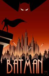 Batman Animated Poster by Teyowisonte