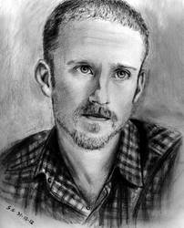 Ben Foster (actor) - Pencil portrait by Skylark6277