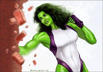 Angie Harmon as the She-Hulk by artguyNJ