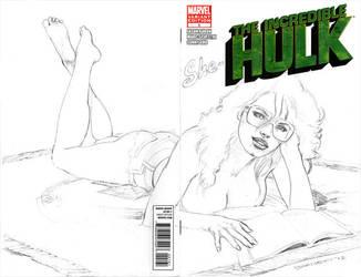 She-Hulk sketch cover by artguyNJ