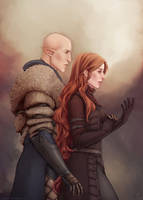 Commission: Lissa Trevelyan and Solas by Nikranel