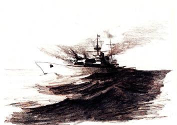 Ship doodle by Krum-Strashni