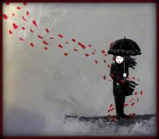 Rose Rain by EbonyDreamIvory