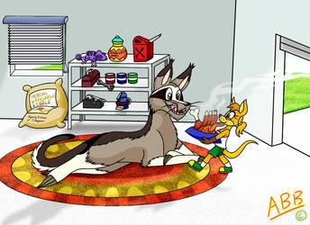 Free Birthday Request - Kangafool Feeding Time by EldritchLJThurston