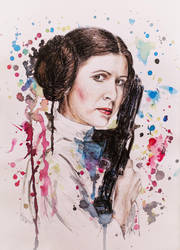 Princess Leia - Carrie Fisher by DeniseEsposito