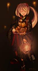 ORIGINAL: Lantern Girl Colored by pinkuz