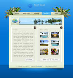 Tropical Beach Resort krazytim by designerscouch