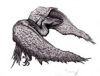 Lovecraft - Shantak Bird by KingOvRats