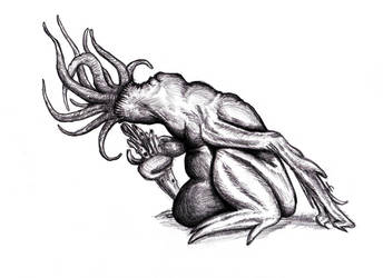 Lovecraft - Moon Beast by KingOvRats