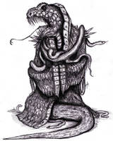 Lovecraft - Yig, the Father of Serpents by KingOvRats