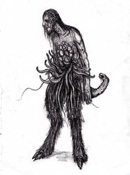 Lovecraft - Wilbur Whateley by KingOvRats