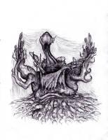 Lovecraft - Nyarlathotep, Mad Faceless God by KingOvRats