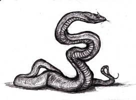 Conan - Satha/ Giant Snake by KingOvRats