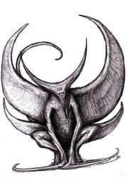 Crescent Gargoyle/ Moon by KingOvRats