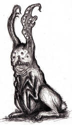 Lovecraftian Hare I by KingOvRats
