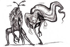 Dream Fungal Creatures, Infested Humans by KingOvRats