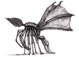 Lovecraft - Mi Go III by KingOvRats