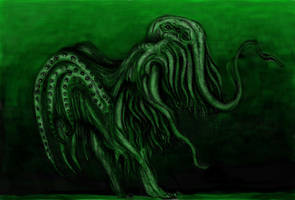 Lovecraft - Cthulhu (Colored) by KingOvRats