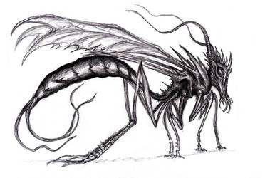 M.R. James - Giant Ichneumon Fly/ Insectoid by KingOvRats