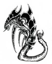 Warhammer 40K - Tyranid Ravener by KingOvRats