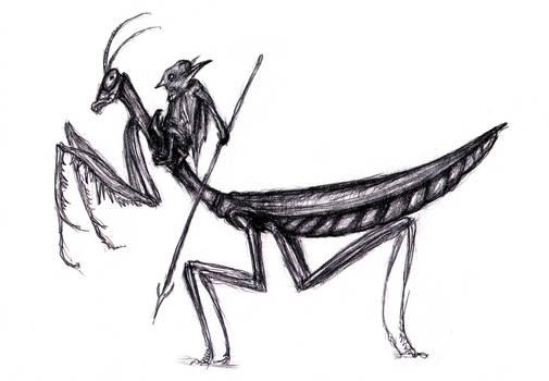 Dream Goblin Mantis Rider by KingOvRats