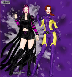 X-Girl Blink and Shadowcat by weirdfangirl59
