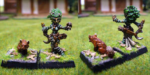 Lini, female gnome druid by Endakil