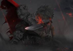 Ultimate Warrior: Katsuki Bakugou by Raikiri-art
