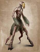 'Dark Earth' Humanoid Creature by SBWomack