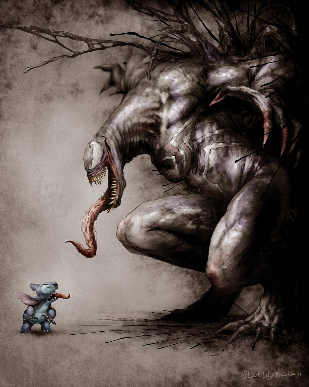 Stitch vs Venom by SBWomack
